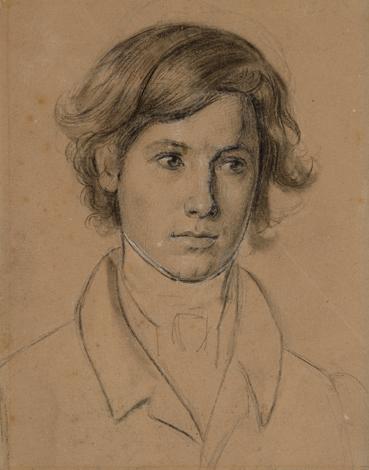 """Friedrich  Wasmann """"Portrait eines jungen Mannes"""""""